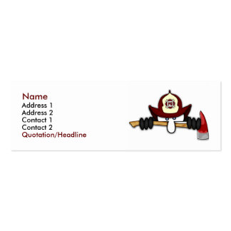 Firefighter Kilroy Profile Card 1 Double-Sided Mini Business Cards (Pack Of 20)