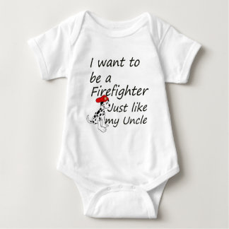 Firefighter like my uncle baby bodysuit