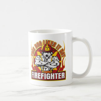 Firefighter Likes it Hot Coffee Mug
