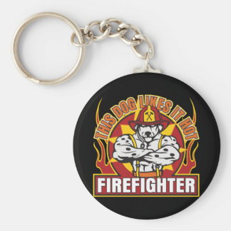 Firefighter Likes it Hot Key Ring