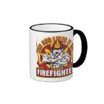Firefighter Likes it Hot Ringer Mug