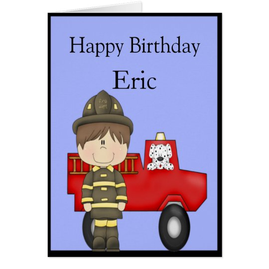 Firefighter, Little Red Fire Truck, Dalmatian Card