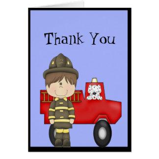 Firefighter, Little Red Fire Truck, Dalmatian Note Card