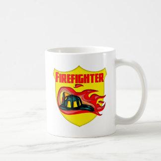 Firefighter Logo Basic White Mug