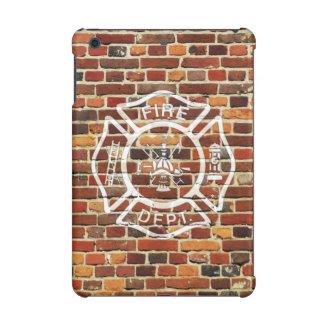 Firefighter Logo Brick Wall