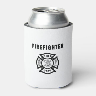 Firefighter Logo Can Cooler