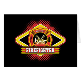 Firefighter Logo Greeting Card