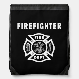Firefighter Logo Drawstring Bag