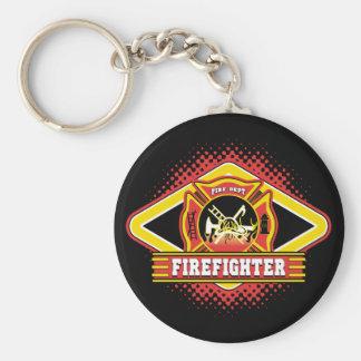 Firefighter Logo Key Ring
