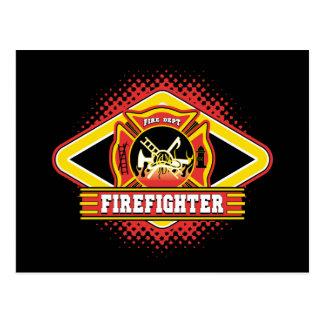 Firefighter Logo Postcard