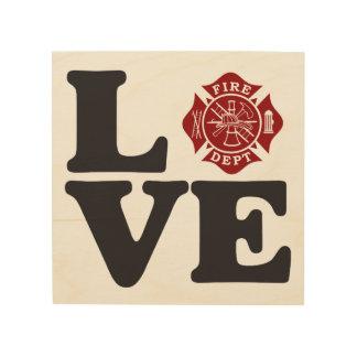 Firefighter LOVE Maltese Cross Wooden Artwork Wood Wall Decor