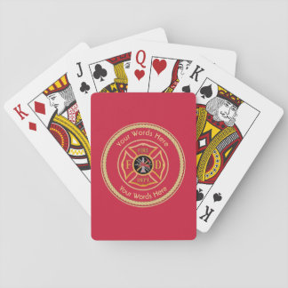 Firefighter Maltese Cross Rope Shield Universal Playing Cards
