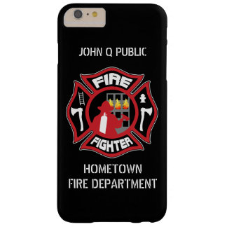 Firefighter Modern Name Template Barely There iPhone 6 Plus Case
