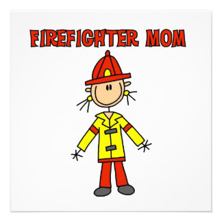 Firefighter Mom T-shirts and Gifts Personalized Announcement