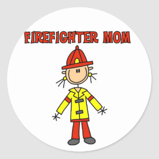 Firefighter Mom Tshirts and Gifts Classic Round Sticker