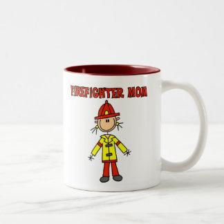 Firefighter Mom Two-Tone Coffee Mug