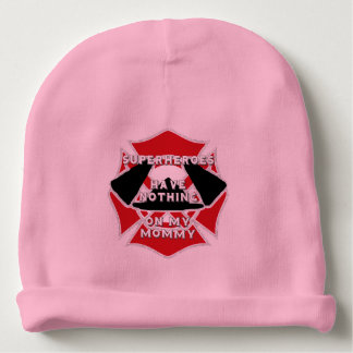 Firefighter mommy baby beanie