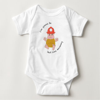 Firefighter mommy baby bodysuit