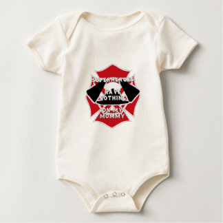 Firefighter mommy baby bodysuit