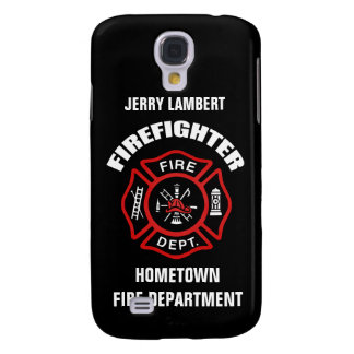 Firefighter Name Template Galaxy S4 Case