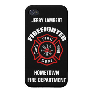 Firefighter Name Template iPhone 4/4S Case