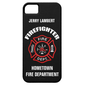 Firefighter Name Template iPhone 5 Covers
