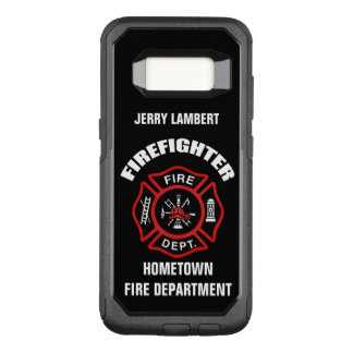 Firefighter Name Template OtterBox Commuter Samsung Galaxy S8 Case