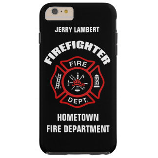 Firefighter Name Template Tough iPhone 6 Plus Case