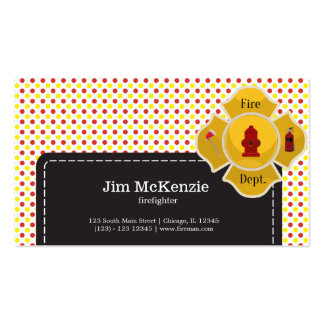 Firefighter Pack Of Standard Business Cards