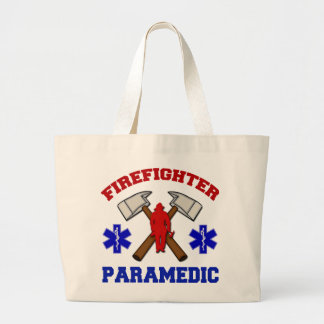 Firefighter Paramedic Large Tote Bag