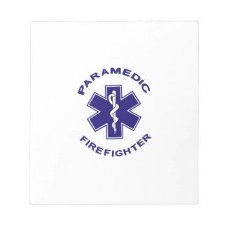 Firefighter Paramedic Notepad
