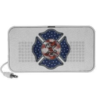 Firefighter Patriotic Maltese iPod Speakers