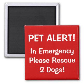 Firefighter Pet Alert! Magnet