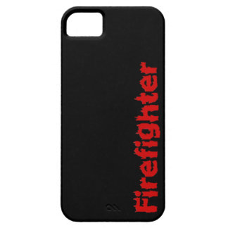 Firefighter Red Flames Gift for Firemen iPhone 5 Case