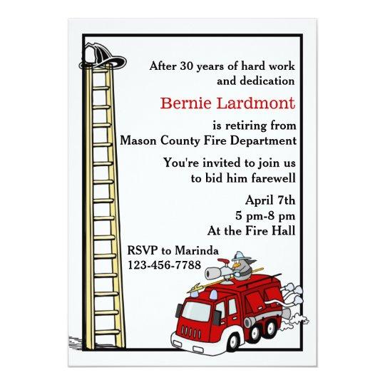 Firefighter Retirement/Birthday Party Invitation