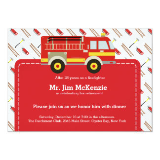 Firefighter retirement card