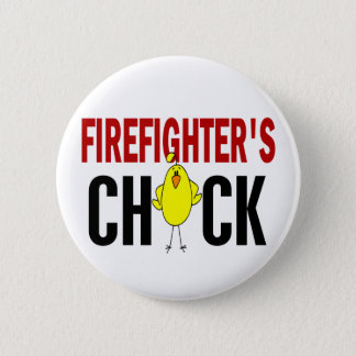 Firefighter's Chick 6 Cm Round Badge