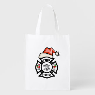 Firefighter Santa Claus Market Totes