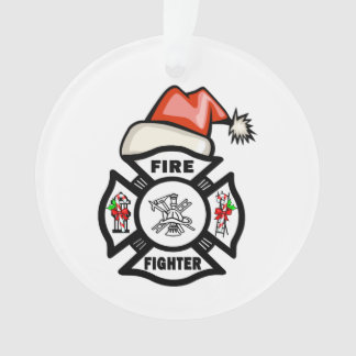 Firefighter Santa Ornament