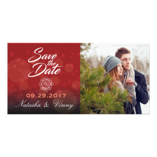 "Firefighter Save the Date 8""x4"" Photocard Photo Card Template"