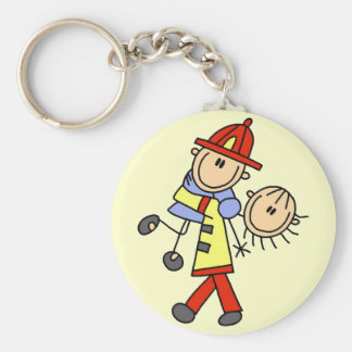 Firefighter Saving Lives T-shirts and Gifts Key Ring