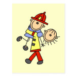 Firefighter Saving Lives T-shirts and Gifts Postcard