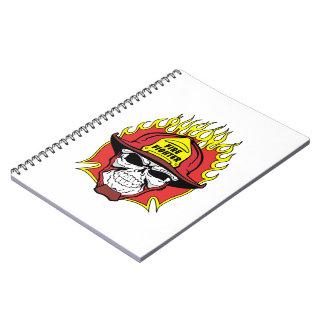 Firefighter Skull Notebooks