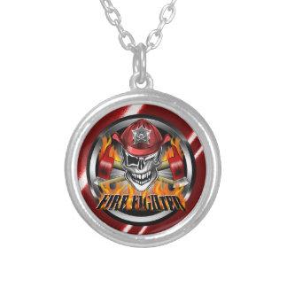 Firefighter Skull: Winking Necklaces