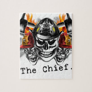 Firefighter Skulls: The Chief. Jigsaw Puzzle