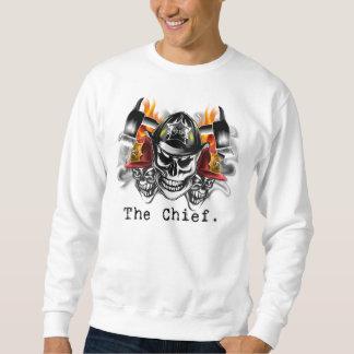 Firefighter Skulls: The Chief. Sweatshirt