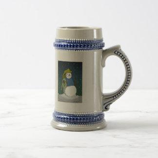 Firefighter Snowman Mug