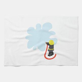 Firefighter Splash Hand Towels
