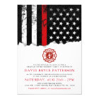 Firefighter Style American Flag Party White Invite