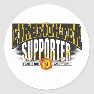 Firefighter Supporter Classic Round Sticker
